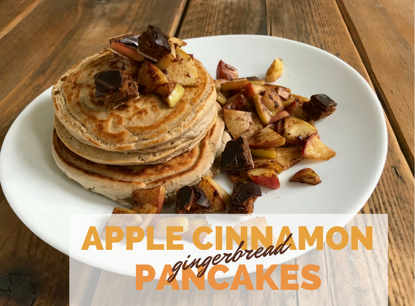 Apple Cinnamon Gingerbread Pancakes