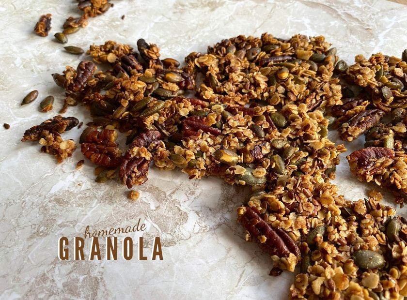 Vegan homemade granola