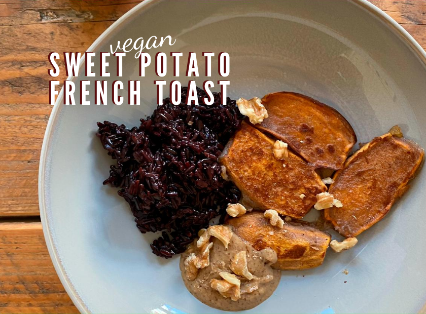 Sweet potato vegan french toast
