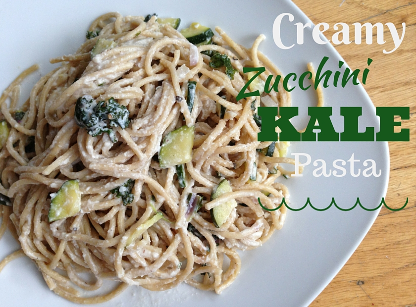 Creamy Zucchini Kale Pasta