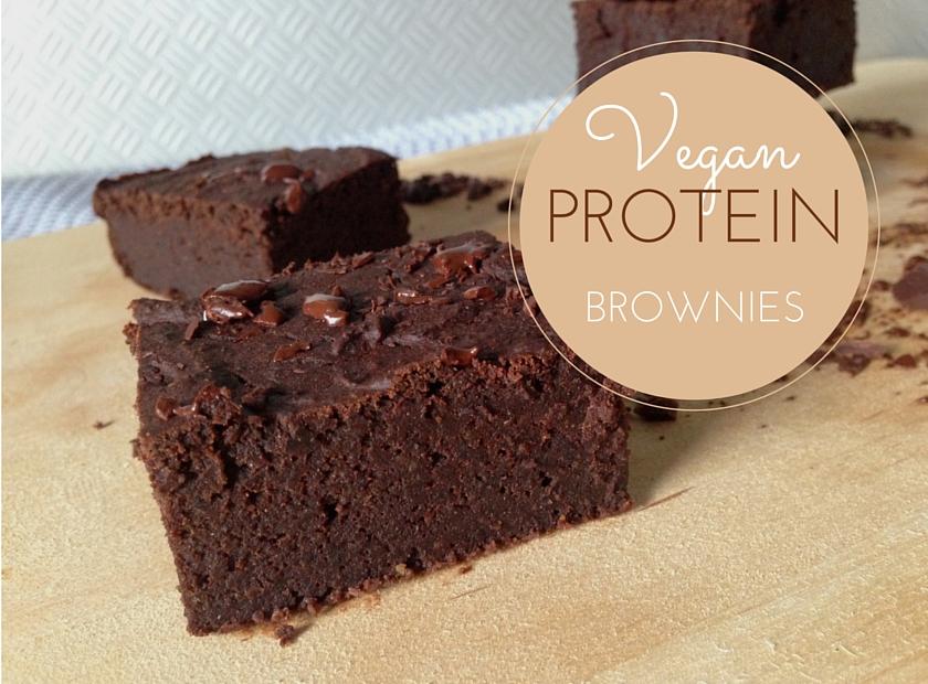 Healthy Vegan Protein Brownies