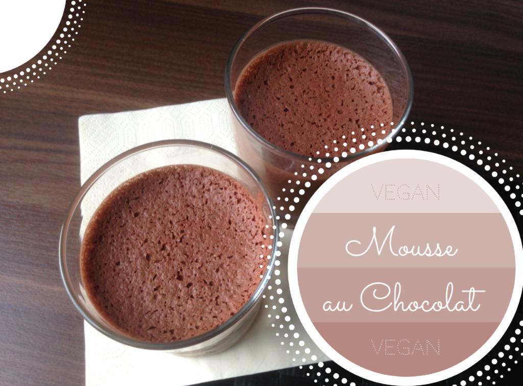 vegan mousse au chocolat