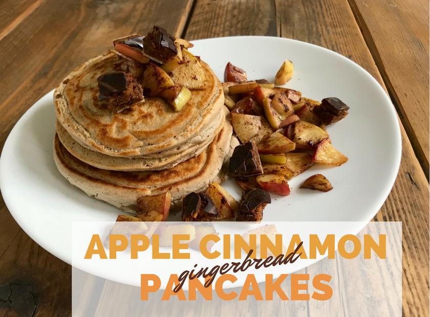 Apple Cinnamon Gingerbread Pancakes